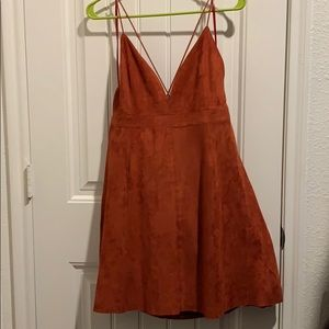 Suede Burnt Orange dress
